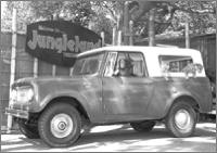 "Old jeep and ""King Kong"" looking fence around Jungleland. Click on for a larger image!"
